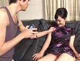 Wild babe Mako Takeda sucks on fat cock picture 12