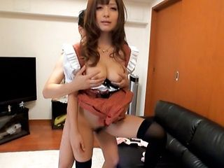 Haruki Satoh Gets Her Teen Pussy Drilled Hard In Costume
