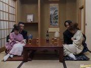 Mio Okazaki and Uzushino hot Asian gangbang