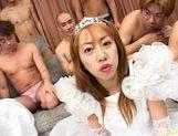 Yuri Terao and Selka Izumi in a hot asian gangbang picture 13