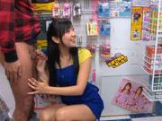 Nana Ogura gives hot double blowjob