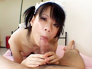 Yuki Hoshino gets her juicy pussy fucked until she gets cum in mouth.