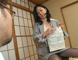 Japanese wife is a mature busty babe