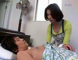 All inclusive sex play for horny mature chick Haruko Hyama picture 1