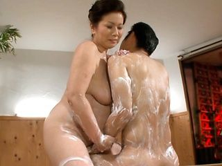 Chizuru Iwasaki at a sexy shop enjoying kinky action