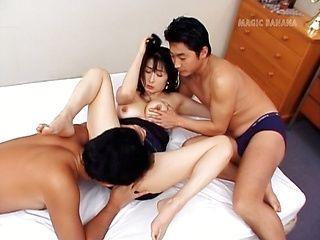 Eri Kikuchi Mature Asian lady gets gangbang sex