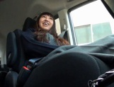 Beautiful Amateur MILF Gets Fucked Deep In A Car picture 11