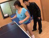 Naughty Japanese AV Model sporty girl cums from rear fuck picture 5