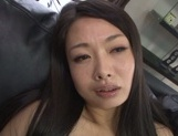 Busty Japanese sweetheart shows off her outstanding masturbation skills picture 14