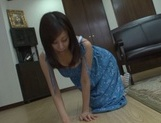 Busty Japanese mature woman arranges hot solo pussy rubbing