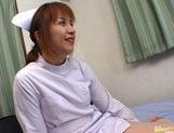 Hot Asian nurse has sex at work