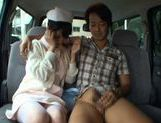 Hot Asian nurse has sex in a car picture 14