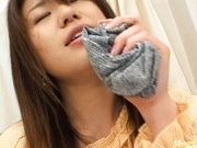 Babe Megu Hayasaka spreads legs and fingers pussy