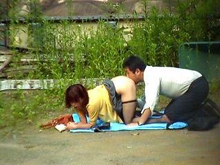 Japanese sex outside