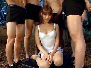 A hot group fuck blowjob scene starring hot milf Kirara Asuka.