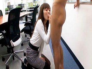 Yuu Asakura Hot Asian office lady gives good head