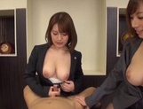 Hot milfs Erika Kitagawa and Misuzu Kawana have sex in the office