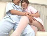 Exquisite Japanese nurse Yui Hatano teases cock