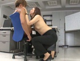 Hot office sex with a staggering beauty Yurie Matsushima picture 12