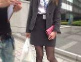 Japanese AV Model horny office girl seduces her co worker