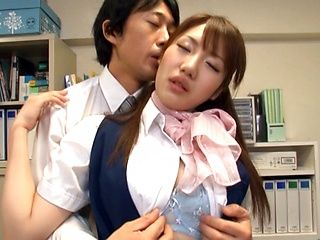 Office Fucking With Yui Hoshino Begging For It On Her Desk
