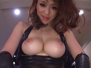 Busty Kaede Niiyama sucking and riding on cock