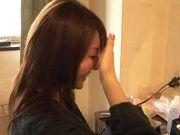 Nice teen Yui Tatsumi in sexy costume enjoys vibrator