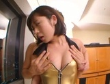 Arousing Asian race queen Wakaba Onoue gets hardcore cumshot picture 14