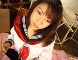 Yuuna Akimoto schoolgirl hot action picture 11