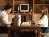 Voyeur Cam Captures Chika Eiro Having Sex In Her Schoolgirl Outfit picture 12