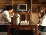 Voyeur Cam Captures Chika Eiro Having Sex In Her Schoolgirl Outfit picture 13