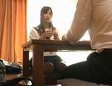 Voyeur Cam Captures Chika Eiro Having Sex In Her Schoolgirl Outfit picture 14