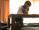 Voyeur Cam Captures Chika Eiro Having Sex In Her Schoolgirl Outfit