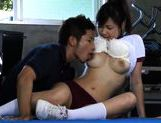Nastym school girl Nana Ogura gets fucked hard at gym class. picture 14