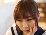 Dirty teen Momoka Sakai in rough porn encounter