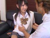Ayumi Kurebayashi alluring Asian teen is horny schoolgirl
