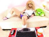 Kinky Asian schoolgirl is masturbating on webcam