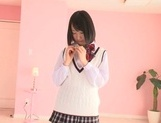 Nice teen Tsugumi Uno having her tight pussy ravished in hardcore picture 13