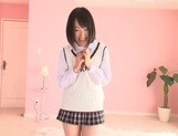 Nice teen Tsugumi Uno having her tight pussy ravished in hardcore picture 14
