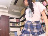 Asian schoolgirl Yuuki Itano gets deep penetrated picture 1