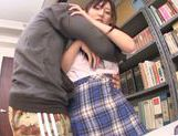 Asian schoolgirl Yuuki Itano gets deep penetrated picture 6