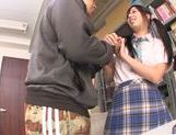 Asian schoolgirl Yuuki Itano gets deep penetrated picture 9