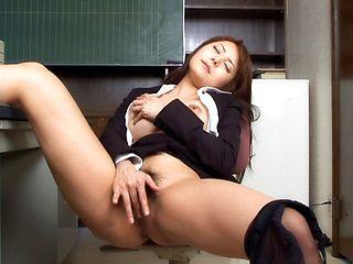 Japanese teaching masturbate