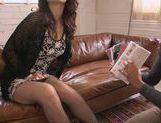 Upskirt action with horny Natsumi Shiraishi