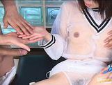Japanese model gets her pussy spread picture 13