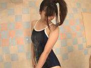 Asian teen Haru Sasaki fucked hard after giving a soapy massage