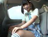 Car sex with hot AV model Miyu Nakatani picture 11