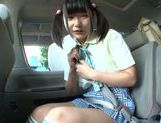 Car sex with hot AV model Miyu Nakatani picture 12