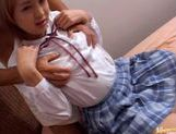 Jun Harukawa Fucked By Two Guys In Her School Uniform