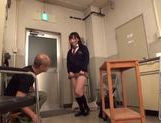 Sexy Japanese AV Model in school uniform enjoying hardcore action picture 3